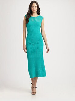 Catherine Malandrino - Cap-Sleeve Crochet Dress