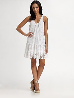 Catherine Malandrino - Eyelet Tank Dress