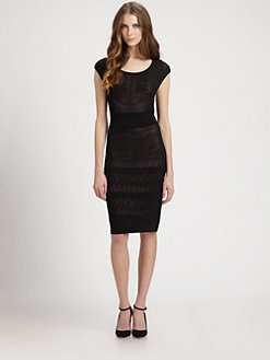 Catherine Malandrino - Varigated Pointelle Dress