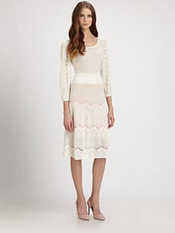 Catherine Malandrino - Pointelle-Knit Dress
