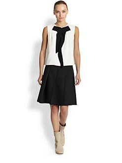 Marc Jacobs - Pleated Wool-Blend A-Line Skirt