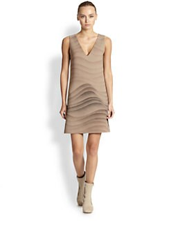 Marc Jacobs - Sleeveless Wool Wave-Print Dress
