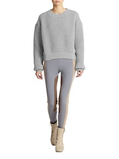 Marc Jacobs - Cropped Chunky-Knit Pullover