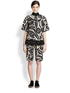 Marc Jacobs - Tassel-Trimmed Floral Top