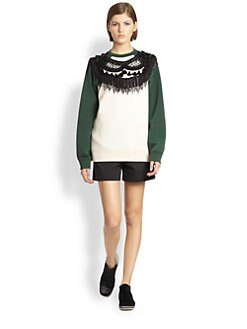 Marc Jacobs - Fringed Crewneck Sweatshirt