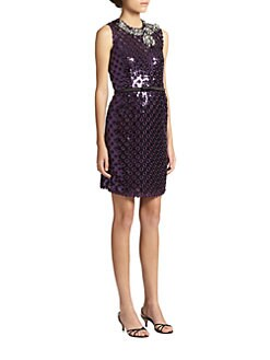 Marc Jacobs - Sequined Eyelet Shift