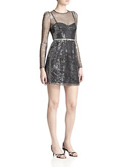 Marc Jacobs - Sequined Stripe Dress