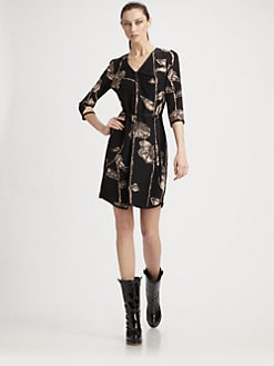 Marc Jacobs - Printed Silk Shirtdress