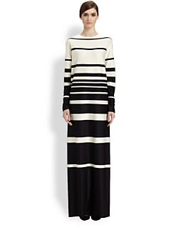 Marc Jacobs - Striped Silk Gown