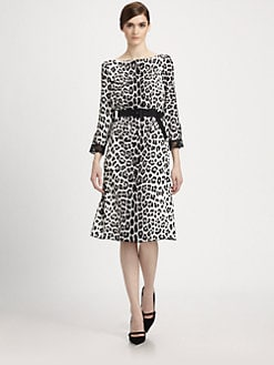 Marc Jacobs - Belted Leopard Print Dress