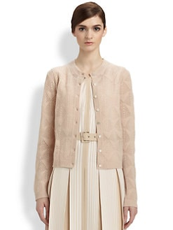 Marc Jacobs - Optic Stitch Cashmere Cardigan