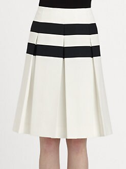 Marc Jacobs - Pleated Stripe Skirt