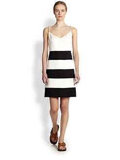 Marc Jacobs - Crystal Embellished Stripe Dress