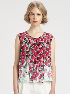 Marc Jacobs - Silk Floral Top