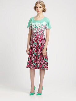 Marc Jacobs - Belted Floral Dress