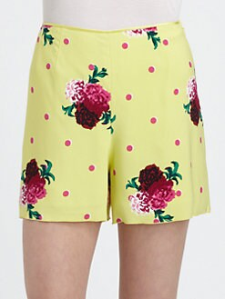 Marc Jacobs - Floral Silk Shorts