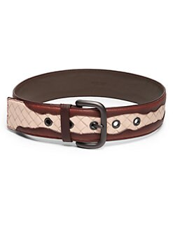 Bottega Veneta - Leather Contrast Belt