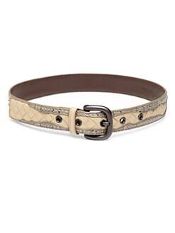 Bottega Veneta - Leather & Watersnake Belt