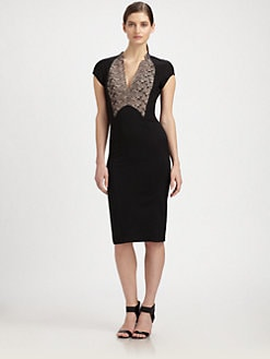 Antonio Berardi - Cap-Sleeve Pencil Dress