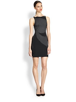 Antonio Berardi - Perforated Paneled Crepe Dress
