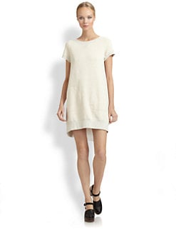 Sacai Luck - Inset Sweatshirt Dress