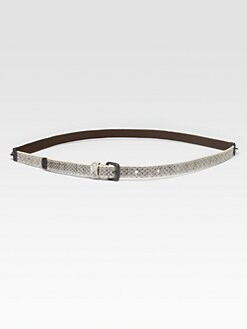 Bottega Veneta - Ayers Snakeskin Belt