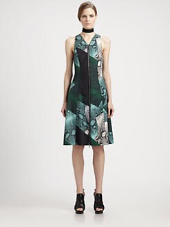 Proenza Schouler - Zip-Front Python Dress