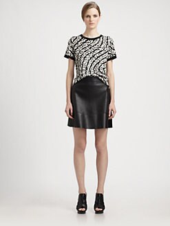 Proenza Schouler - Silk Jacquard Tee