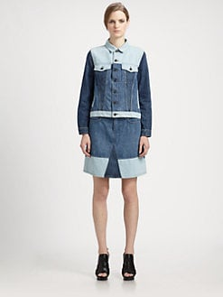 Proenza Schouler - Colorblock Denim Jacket