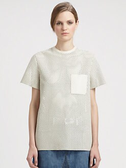 Proenza Schouler - Perforated Leather Tee