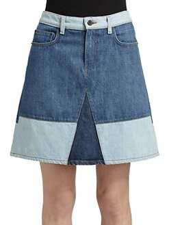 Proenza Schouler - Colorblock Denim Skirt