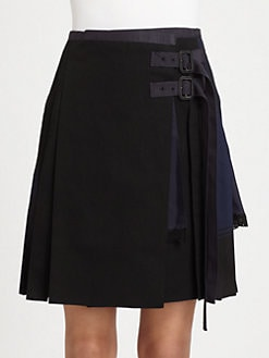 Sacai - Mixed Media Skirt
