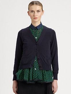 Sacai - Layered Embroidered Shirt
