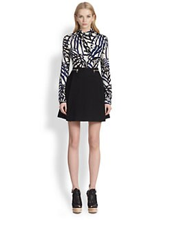 Proenza Schouler - Leaf-Print Silk Button-Front Shirt