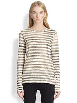 Proenza Schouler - Striped Extract-Print Long Sleeve Tee