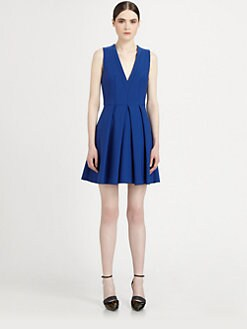 Proenza Schouler - Pleated V-Neck Dress