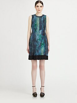 Proenza Schouler - Silk Paneled Printed Dress