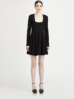 Proenza Schouler - Square-Neck Pleated Dress