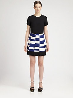 Proenza Schouler - Paneled Jersey Dress