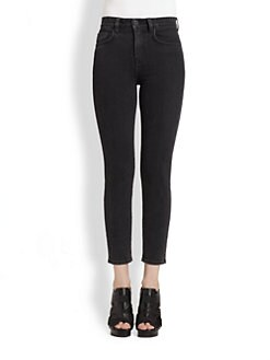 Proenza Schouler - High-Rise Cropped Skinny Jeans