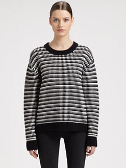 Proenza Schouler - Stripe-Patterned Chunky-Knit Cashmere Sweater