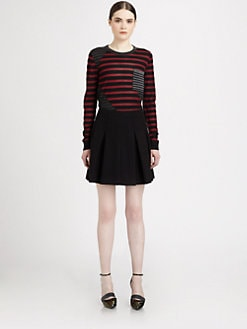Proenza Schouler - Silk & Wool Contrast-Paneled Striped Sweater