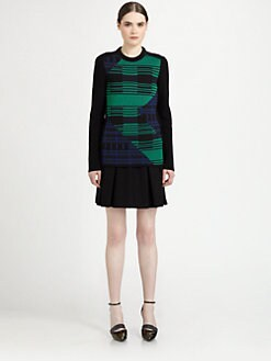 Proenza Schouler - Colorblock Plaid-Patterned Chunky-Knit Sweater