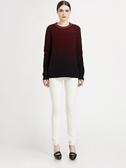 Proenza Schouler - Wool & Cashmere Ombr&eacute; Chunky-Knit Sweater