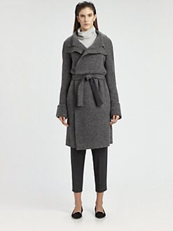 The Row - Magdalena Belted Wool-Blend Coat
