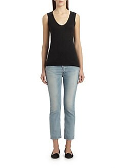 The Row - Ashland Cropped Straight-Leg Jeans