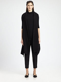 The Row - Calliope Draped Merino Wool & Cashmere-Blend Vest