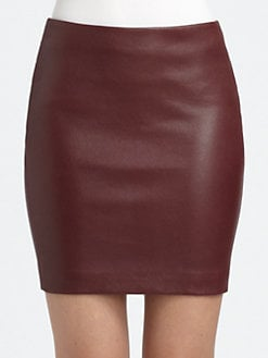 The Row - Ebarg Leather Mini Skirt