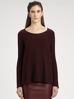 The Row - Ella Ribbed Merino Wool & Cashmere Sweater