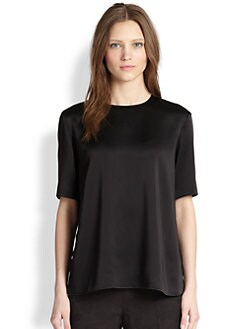 The Row - Satin Sova Top
